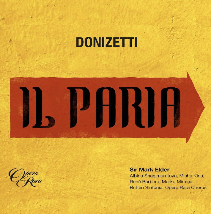 New Album DONIZETTI: Il Paria